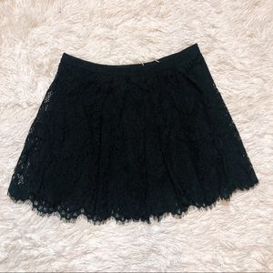 Forever 21 black lined lace skater skirt. Size 31